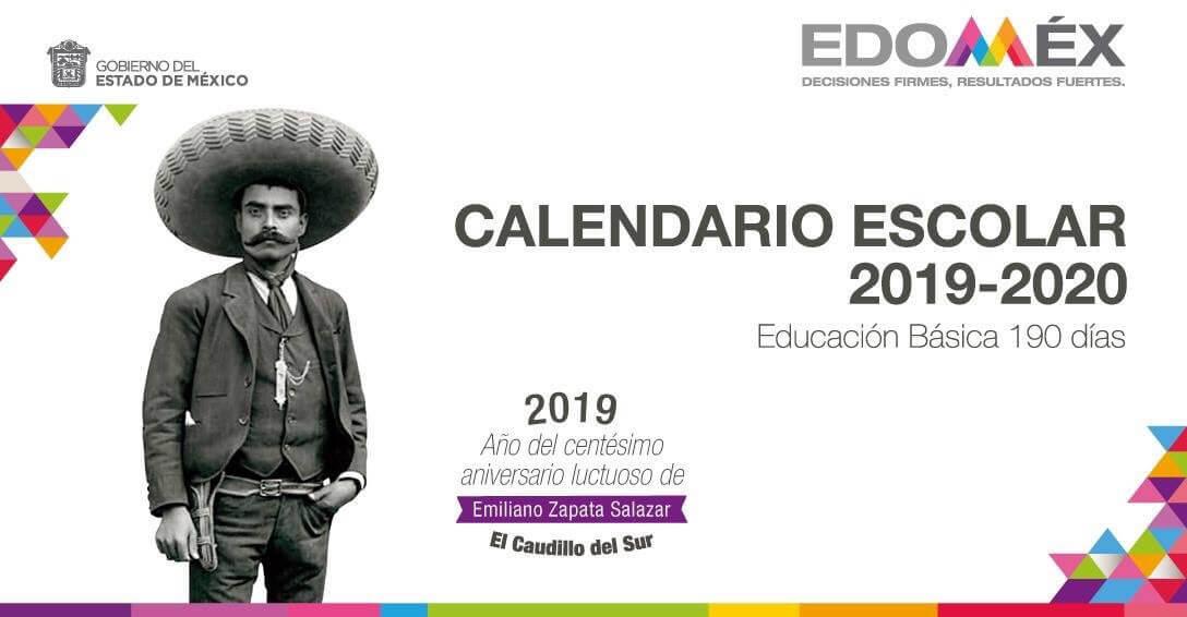 Calendario Escolar 2019 a 2020