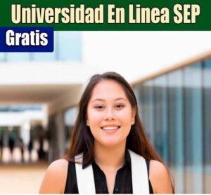 Universidad en línea de la Sep gratuita este 2020